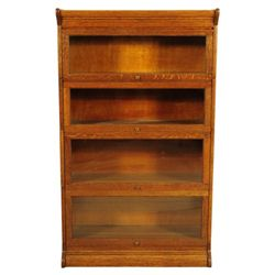 Gunn Oak 4 Stack Attorneys Bookcase