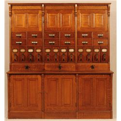 Large Tiger Oak Filing Cabinet Yawman & Erbe