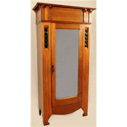 Arts & Crafts Style Tiger Oak Wardrobe