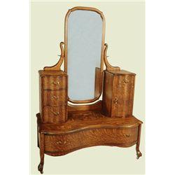 Tiger Oak Vanity Dresser