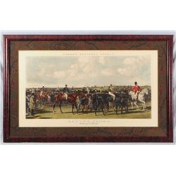 "Horse Racing Lithograph ""Returning to Weigh"" 1856"