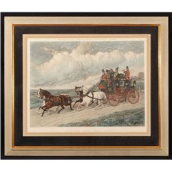 "J.F. Herring ""The Royal Mail Coach"" Lithograph"
