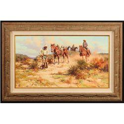 "Harold Lyon ""Ride a Little Walk a Little"" Painting"