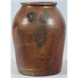 Rare Signed Cranston Texas Stoneware Jar