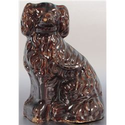 Texas Pottery Dog Doorstop Winnsboro