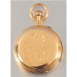 18K Gold Waltham Pocket Watch