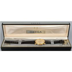 18K Gold Omega 5 Position 24 Jewel Watch