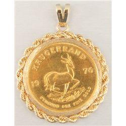 1976 Krugerrand Gold Pendant