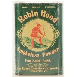 Robin Hood Smokeless Gun Powder Tin