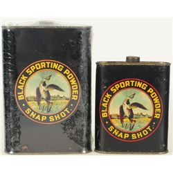 2 Snap Shot Gun Powder Tins