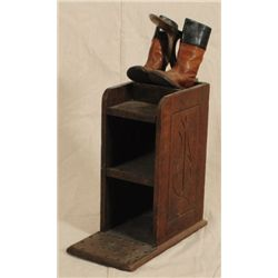 Shoeshine Stand & Child's Cowboy Boots 1870's