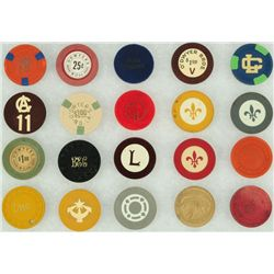 Collection of 20 New Orleans La. Poker Chips