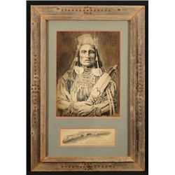 Bob Dale Chief Medicine Crow Print