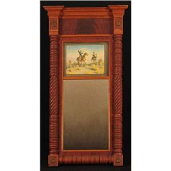Antique Mirror with Cowboy Litho