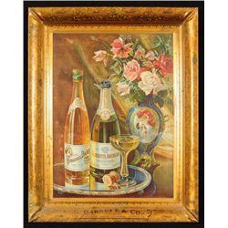 Garrett's Champagne Self Framed Tin Sign