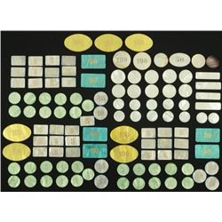 Collection of 115 Mother of Pearl Poker Chips
