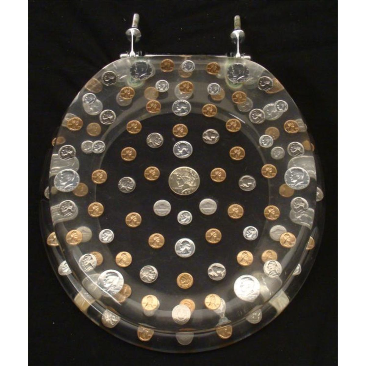 Throne of Coins Rare Novelty Pop Art Toilet Seat