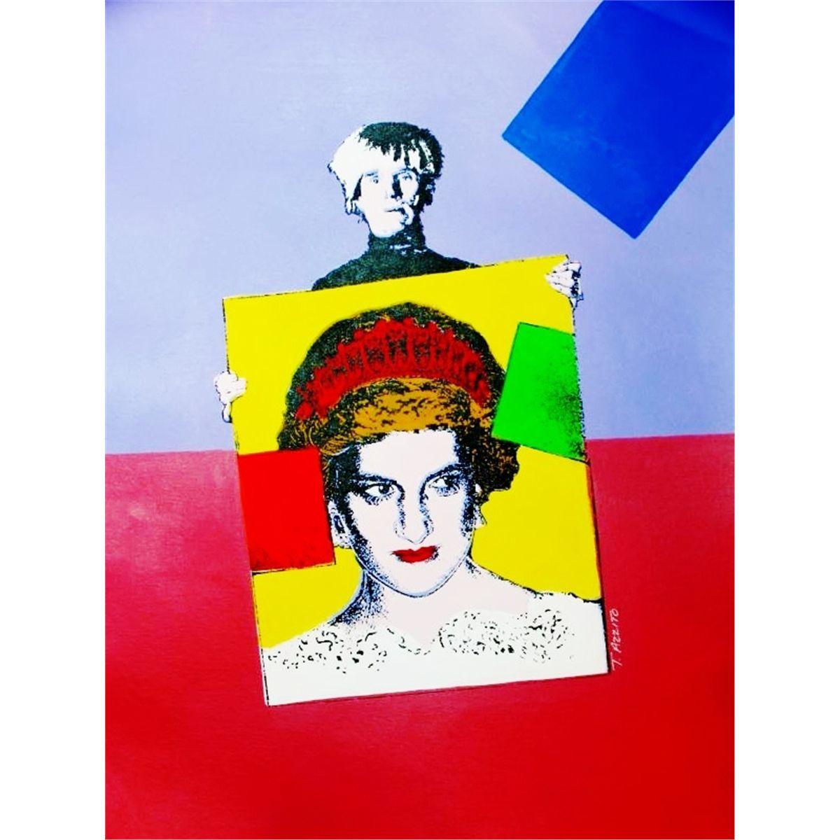 Pop Art Original Canvas Colorful Warhol Princess Diana