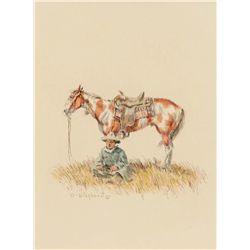 Wieghorst, Olaf - Cowboy on a Horse