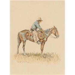 Wieghorst, Olaf - Cowboy on Horseback