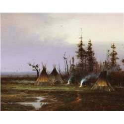 Poulsen, Michael C. - Lamar Valley Encampment-Yellowstone