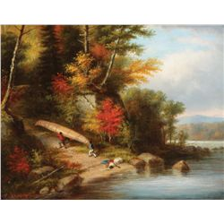 Krieghoff, Cornelius - Wilderness Portage