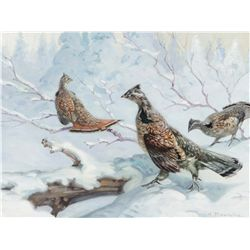 Browne, George - Grouse in the February Snow