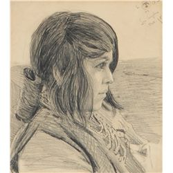 Dixon, Maynard - Study of a Young Girl
