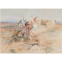 Russell, Charles M. - Bringing the Stolen Herd Home