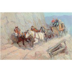 Berninghaus, Oscar E. - Taos Canyon Stagecoach