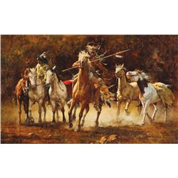Terpning, Howard - Captured Ponies