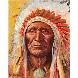 Wieghorst, Olaf - Portrait of an Indian