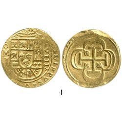 Mexico City, Mexico, cob 8 escudos, (1715)J, from the 1715 Fleet, encapsulated ANACS EF 40. S-M30; K