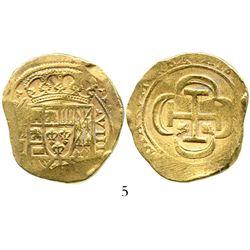Mexico City, Mexico, cob 8 escudos, (1715)J, from the 1715 Fleet. S-M30; KM-57.2; CT-109. 26.9 grams