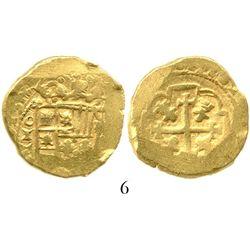 Mexico City, Mexico, cob 4 escudos, (1)713(J), from the 1715 Fleet. S-M30; KM-55.1; CT-233. 13.5 gra