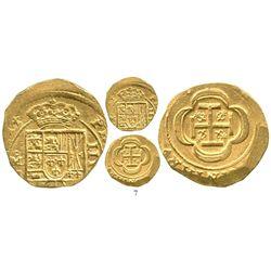 Mexico City, Mexico, cob 4 escudos, (17)14J, from the 1715 Fleet, ex-Gerber. S-M30; KM-55.2; CT-234.