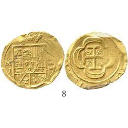 Mexico City, Mexico, cob 4 escudos, Philip V, (1714)J, from the 1715 Fleet. S-M30; KM-55.2; CT-234.