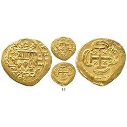 Mexico City, Mexico, cob 2 escudos, (1715J), from the 1715 Fleet. S-M30; KM-53.2; CT-351. 6.6 grams.