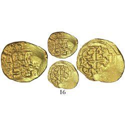 Mexico City, Mexico, cob 1 escudo, (17)12(J), mintmark oXM, from the 1715 Fleet, with original salva