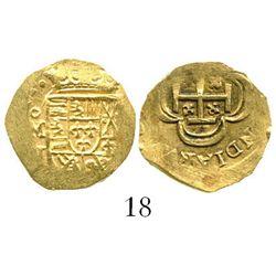 Mexico City, Mexico, cob 1 escudo, (171)4J, from the 1715 Fleet. S-M30; KM-51.2; CT-510. 3.3 grams.