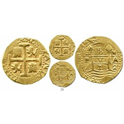 Lima, Peru, cob 8 escudos, 1712M, from the 1715 Fleet. S-L28; KM-38.2; CT-23. 26.9 grams. Two bold d
