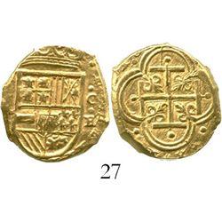 Cartagena, Colombia, cob 2 escudos, (1630)E, rare. S-C7; KM-4.6; CT-133. 6.7 grams. Choice and lustr