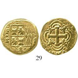 Bogota, Colombia, cob 4 escudos, Ferdinand VI, assayer S, style of 1755-6. S-B27a; KM-27. 13.4 grams