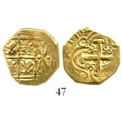 """Bogota, Colombia, cob 2 escudos, 1712, from the 1715 Fleet, ex-Tampa sale, pedigreed to the Bob """"Fro"""