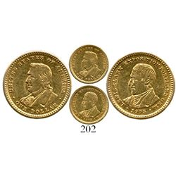 USA, $1 Lewis and Clark (gold dollar), 1905. KM-121.  Lustrous AU with light surface marks, no big p