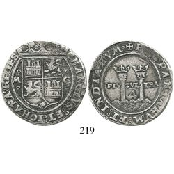 """Mexico City, Mexico, 4 reales, Charles-Joanna, """"Late Series,"""" oMo to left, oGo to right, king's name"""