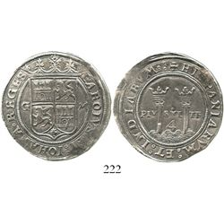 """Mexico City, Mexico, 4 reales, Charles-Joanna, """"Late Series,"""" G to left, M to right. Nesmith-46; S-M"""