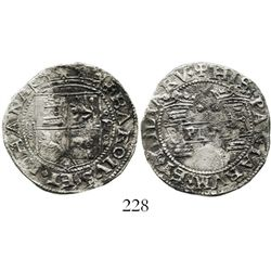 "Mexico City, Mexico, 2 reales, Charles-Joanna, ""Early Series,"" oMo to left, oPo to right. Nesmith-25"