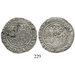 """Mexico City, Mexico, 2 reales, Charles-Joanna, """"Late Series,"""" M to left, R to right. Nesmith-69; S-M"""