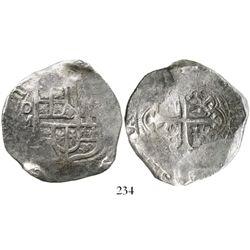 Mexico City, Mexico, cob 8 reales, (16)21/0(D), choice Grade 1, ex-Eugene Lyon collection. S-M18a; K